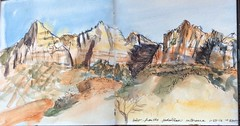 Zion - view from pedestrian entrance (eleanorsegal) Tags: landscape utah zion