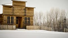 Frontier Fence (L E Dye) Tags: winter snow canada rural fence nikon alberta prairie ukrainianculturalheritagevillage d5100 fencefriday ledye