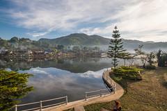 _DSF0232 (NeVaSanYa) Tags: lake landscape thailand outdoor hamlet traval reservoirs meahongson baanraktai