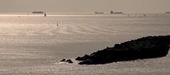 Mar del litoral dels barris del Bess i Sant Adri del Bess - Barcelona - Catalunya (Isabel Aguado Rodrguez) Tags: barcelona landscape mar spain europe barcos catalua frum marmediterrneo costamediterrnea