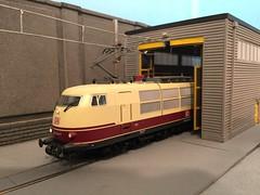 Roco 103 245-7 Bahnland Bayern - HO scale model railway (Paul David Smith (Widnes Road)) Tags: modern model shed railway depot ho roco 1032457