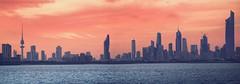 Kuwait city (khalid almasoud) Tags: city sea urban clouds evening flickr sony towers estrellas kuwait beah sonya5100 ilce5100