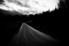 (blazedelacroix) Tags: road winter sunset church car darkness sweden sony atmosphere theroad laroute rx100 bnwdemand blazedelacroix