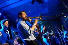 trombone (Ian Muttoo) Tags: toronto ontario canada gimp trombone rom royalontariomuseum fridaynightlive ufraw fnlrom feelingtheonedrop dsc53611edit