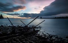 Train (mathiasboman) Tags: longexposure blue sunset seascape canon sweden outdoor nordic sverige vttern waterscape stergtland landskapsbilder canon6d medevi