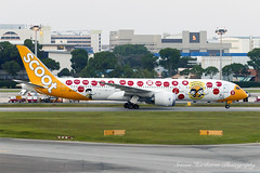 "Scoot Boeing 787-9 Dreamliner 9V-OJE ""Maju-lah"" (Sri_AT72 (Sriram Hariharan Photography)) Tags: birthday plane photography airport singapore aviation sydney scooter smith special international celebrations sin passion boeing february 50th changi airlines scoot spotting tz sco livery 787 kingsford 2016 wsss tz1 dreamliner avgeek majulah boeing787 7879 sco1 787900 9voje"