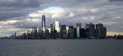 Skyline Manhattan vanaf ferry