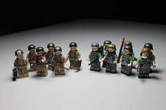 US Airborne and Fallschirmjger ([C]oolcustomguy) Tags: brick us arms lego wwii capes cape airborne citizen brickarms fallschirmjger mmcb
