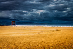 Gold and Dark (Chiara Salvadori) Tags: ocean africa travel blue winter light sea wild seascape storm green beach nature water colors dark landscape southafrica gold coast spring scenery view outdoor wave cape thunderstorm traveling eastern gardenroute easterncape sudafrica plettenbergbay