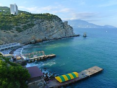 Sail Rock (ivan_ozerov) Tags: rock bay russia sail crimea blacksea 2015