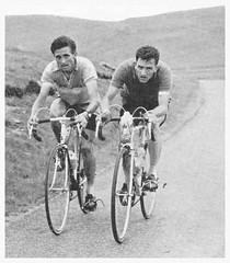 Bill Bradley and Ken Laidlaw. (Paris-Roubaix) Tags: road white black club vintage army cycling scotland bill union ken harry cc photographs bradley quinn southport hawick laidlaw