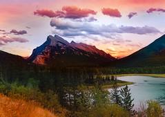 Engines of recreation (digitalVerve) Tags: sky mountain lake canada mountains nature clouds landscape rockies outdoor alberta banff mountrundle vermilion rundle housemountain mtrundle digitalverve