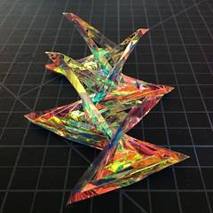 3m dichroic film (mike.tanis) Tags: light reflection art architecture design origami 3m hyperbolicparaboloid dichro dichroicfilm