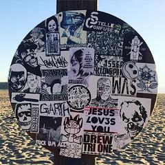 Venice Beach (PSYCO ZRCS 10/12) Tags: california street venice art beach sign graffiti big sticker stickerart stickers vinyl dookie worldwide slap smashed grilled tagging psyco bombing combo slaps stickerculture stickerporn stickerlife