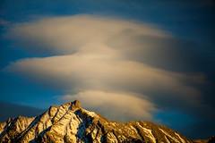 Enthralled (stevenbulman44) Tags: blue winter sky cloud mountain canon peak filter alberta rockymountains polarizer lseries 70200f28l