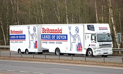 DAF CF - LANES OF DEVON /Britannia Removals (scotrailm 63A) Tags: trucks removals lorries