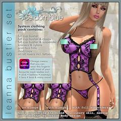 LEANNA-BUSTIER-SET-PINK (Indigoblue Dagostino) Tags: fashion knickers bra lingerie corset suspenders basque vintagelingerie