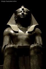 In awe (- Crupi Giorgio (official)) Tags: statue museum canon torino king italia egypt egyptian pharaoh mystical re museo turin archeology statua egitto imposing archeologia canon35mm mistico imponente faraone egizio canoneos7d