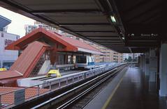 Singapore - Bukit Panjang - MRT interchange (railasia) Tags: car station singapore 2000 peoplemover infra interchange bombardier bukitpanjang metrosubwayunderground smrtc smrtclrt typec801