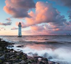 Perch Rock Clouds (GOLDENORFE) Tags: sunset lighthouse perchrock 5dsr