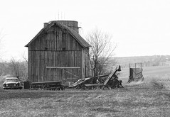 Rural Wisconsin, USA (MalaneyStuff) Tags: bw usa wisconsin barn rural nikon farm kenosha 55300 d5100 ruralapr2016