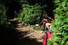DSCF1273 (Kemal Riza) Tags: woman relax femme parc ete repos