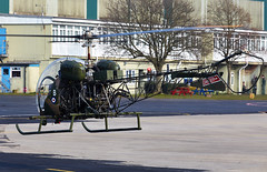 Bell 47 Sioux (Bernie Condon) Tags: army flying chopper bell aircraft military helicopter britisharmy 47 aac sioux haf aacc middlewallop