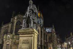Adam Smith v St Giles (Colin Myers Photography) Tags: street old adam st colin photography scotland town high edinburgh moody cathedral royal scottish smith stgilescathedral giles auld oldtown atmospheric mile myers adamsmith reekie oldedinburgh edinburgholdtown colinmyersphotography