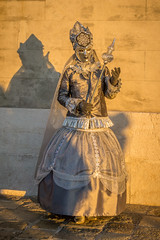Model in Silver at Sunset (Kayla Stevenson) Tags: venice costume model piazza sangiorgiomaggiore
