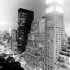 Gramercy (Adam Garelick) Tags: city nyc newyorkcity blackandwhite fall 120 6x6 film monochrome architecture night mediumformat manhattan midtown hasselblad empirestatebuilding 100 2012 fujineopanacros ilfordilfosol3 223m9