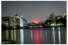 Gulshan Baridhara Lake, Gulshan, Dhaka (shovonrahmaney) Tags: city blue lake building water skyline architecture night canon buildings reflections river landscape lights long exposure waterfront bright outdoor dusk hour bangladesh bangladeshi gulshan shovon baridhara flickraward flickraward5 flickrawardgallery rahmaney clicktoframe