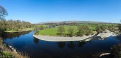 Ruskins View, Kirkby Lonsdale April 2016 (alsimages1 - Thank you for 860.000 PAGE VIEWS) Tags: panorama mountains tree beautiful animals rural forest reflections river walking landscape cycling countryside stream view farm country scenic historic hills views vista touring agricultural watercourse valleys