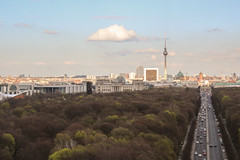View from Berlin Victory Column (James Buchanan) Tags: berlin tower germany tv victory reichstag column tiergarten siegessule