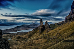The Old Man of Storr (bradders29) Tags: storm skye sunrise landscape dawn scotland highland d750 bluehour oldmanofstorr rainburst