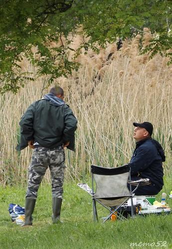 pescatori in Brianza (Lago di Annone) Italy