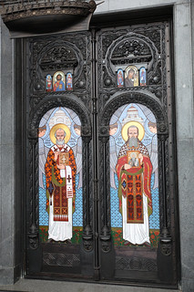 The Western Gate. St. Nicholas and st. John of Kronstadt