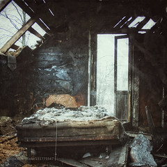 Burnt House (tycampbe) Tags: old city urban house abstract art abandoned industry vintage landscape dead fire death scary bedroom industrial cityscape village decay interior fear perspective indoor retro dirt burnt terrible popular burned urbex 500px ifttt