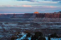 Desert Expanse (courtney_meier (away)) Tags: snow clouds sunrise dawn utah desert canyon canyonlandsnationalpark canyonlands moab redrock snowscape pinkclouds coloradoplateau redrockcountry
