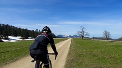 Gravel Highway (collideous) Tags: road blue sky bike spring ride gravel grinding 10042016