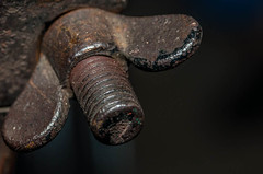 Wing Nut (NedraI) Tags: macro vintage rust twist 1925 modelt wearandtear wingnut macromondays nedra2016