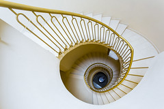 The spiral staircase (Bernieri Nicola) Tags: white vortex eye yellow spiral gold center palace resort staircase harmony ellipse sequence spa section ville spiralstaircase parapet goldensection threedimensional ancientpalace centering ancienthome
