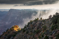 Light Below the Rim (Kirk Lougheed) Tags: morning summer arizona sky cliff usa cloud sunrise landscape nationalpark unitedstates outdoor grandcanyon canyon rim southrim desertview rockformation grandcanyonnationalpark palisadesofthedesert