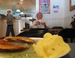 Pie and Mash! (darkroomboffin) Tags: street people food london coffee cuisine restaurant tea text explore pies nosh marble spuds eel grub eastend mashpotato londoner payasyougo
