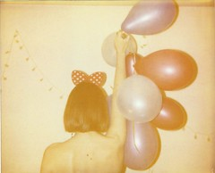 Let's polaparty! Roidweek day 1 (marion (milky soldier)) Tags: party girl balloons polaroid faded instant spectra expired instantfilm roidweek2016