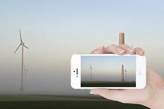 Mobil (thomas druyen) Tags: fog handy deutschland design nikon nebel natur himmel samsung mobil motorola landschaft strom iphone niederrhein kleve fotodesign stromerzeugung