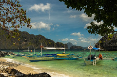 20150223-IMGP5071.jpg (derkderkall) Tags: ocean beach boat paradise philippines tropical whitesand karst elnido islandhopping palawan outrigger