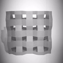 3d auxetic paper (mike.tanis) Tags: art architecture paper design origami structure kirigami material lattice auxetic transformable 3dauxeticmaterial
