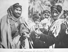 Sheikh drinking coffee (Terterian - A million+ views, thanks.) Tags: coffee vintage photography book photos brothers photographic arab views baghdad times plates collectible rare sheikh abdul 1925 studies kerim basra irag basrah bygone hasso cemera