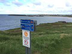 CCW signage pointing the way to Portrush (brookscl) Tags: ireland unitedkingdom northernireland portrush ccwday3map