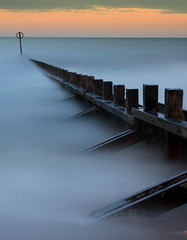 Aberdeen Beach (121 Second Exposure) (Explored) (PeskyMesky) Tags: longexposure sunset sea mist beach sunrise canon scotland pov pointofview aberdeen le northsea bluehour northeastscotland aberdeenbeach canoneos500d